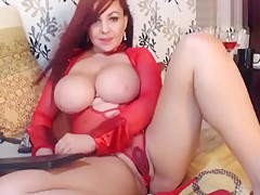 Busty Mari_Botero playing with a vibrator