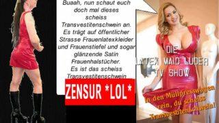 Latex Maid Porno Luder-Scheiss Transvestitensch…